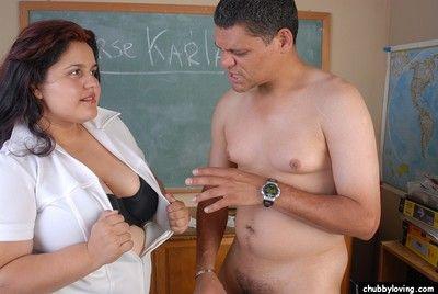 Older vigilance Karla alluring cumshot in brashness after obese pussy skunk with the addition of bj