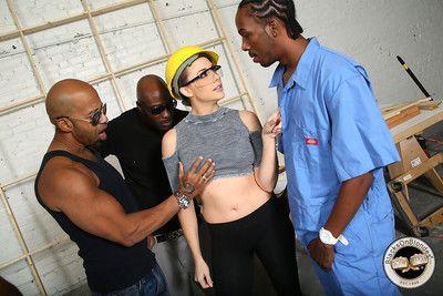 Chanel preston got gangbanged by black workers