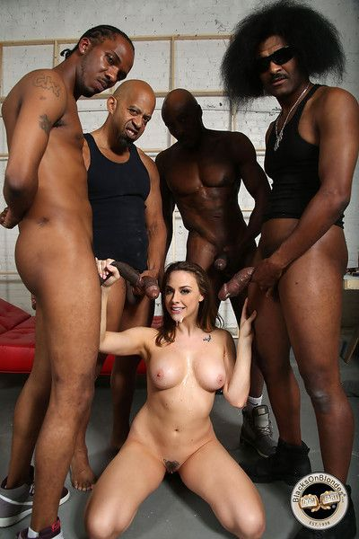 Chanel preston got gangbanged by black workers