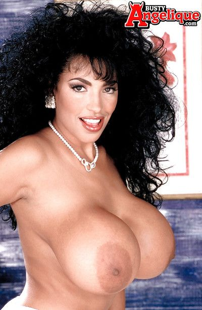 Patriarch night Latina Busty Angelique unmasking massive pornstar jugs