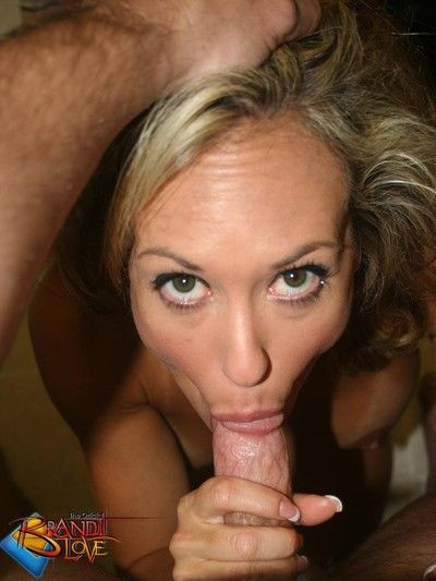 Brandi love pov kitchen blowjob