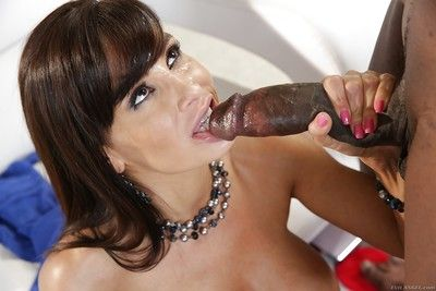 Astonishing interracial sex beside amazing beauty devilish Lisa Ann