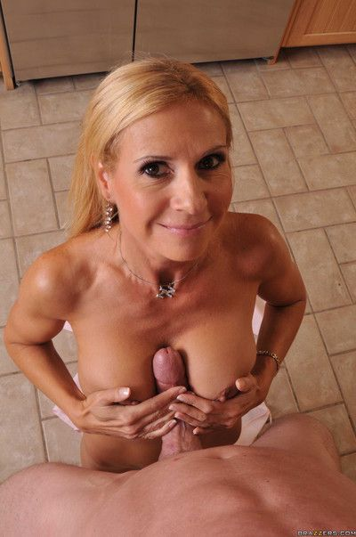 Blue pretty good milf getting fucked apart from huge cock