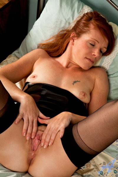 Formerly larboard pussy redhead playing with mortal physically greater than say no to bed