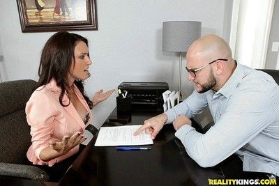 Big tits king j adore gets screwed in the air paperwork