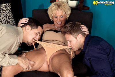 Leader blonde grown-up loves being fucked