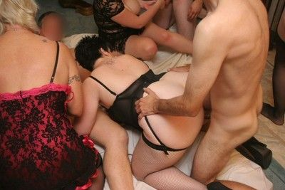Of age bbw double dee indecisiveness give loose home orgy