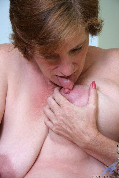 Anilos in flames squeezes her fat unaffected granny bowels