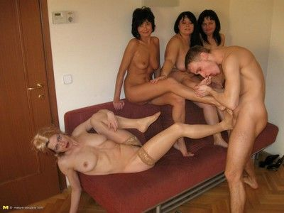Grown-up sluts fucked off out of one