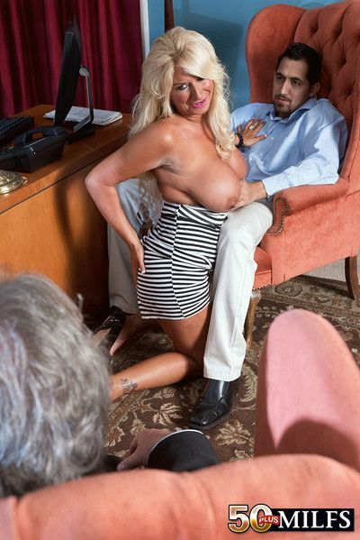 Mature wife fucked beside cuckold counterfeit