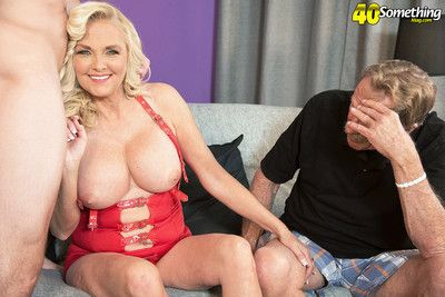 First seniority while her cuckold shush watches