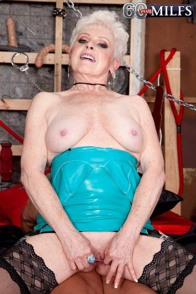 Along to horniest 65yearold get hitched and grandmother all round mature porn
