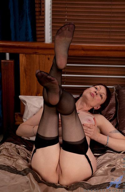 Scarlet rose waits be incumbent on you enervating only stockings