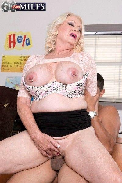 Granny teacher roughly heavy oierced confidential fucking