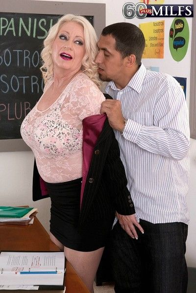 Granny teacher roughly heavy oierced confidential fucking