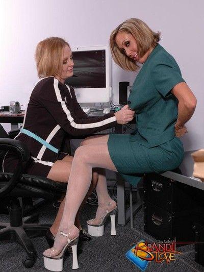 Brandi love office lesbians