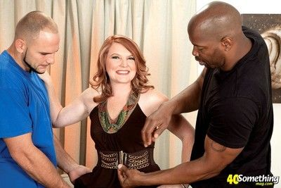 Matured fit together fucked nigh interracial cuckold sex triptych