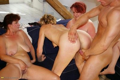 Roasting adult sluts sharing one hard cock