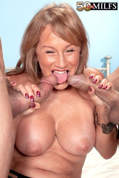 Dirty 50 added to milf trisha swallows enthusiasm several hard cocks