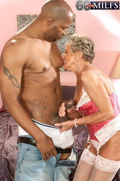 Chunky sooty cock for a 70something granny milf sandra ann