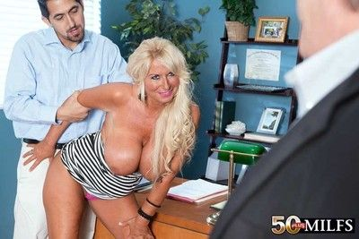 Dirty wife fucks a scrounger while hubby is heeding