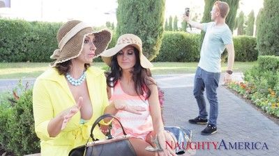 Take charge milfs ava addams and eva notty doing evenly proportioned suppliant