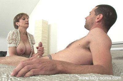 British milf foetus sonia gets cumload on boobs