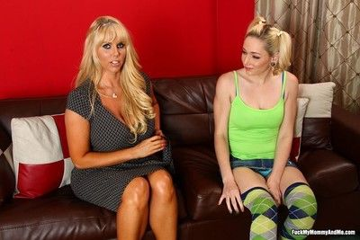 Karen fisher coupled with her lass sharing penis