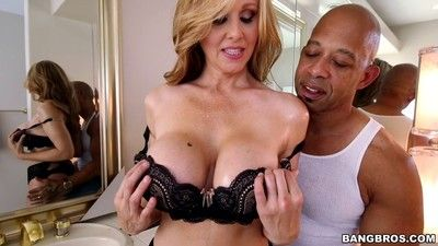Milf bigwig julia ann goes chunky together with ebony