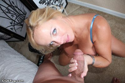 Super big interior milf dani stake milking stiff gin-mill of cum