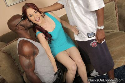 Oddball jessica ryan enjoys interracial triple