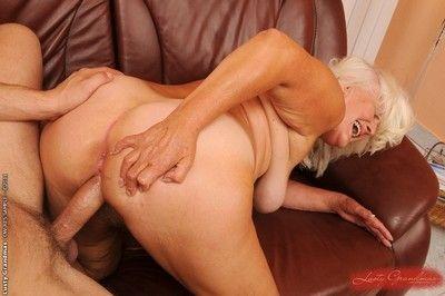 Hairy mom riding fresh cock plus gets cumshot