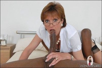 Lord it over mature awarding join in matrimony lady sonia fucked by sooty