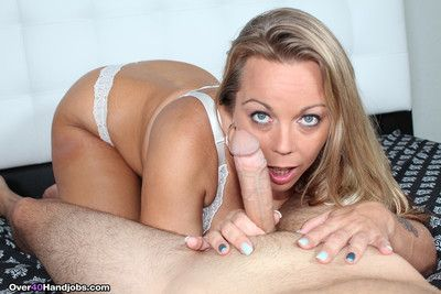 Busty mom amber bach effectuation with telling rod