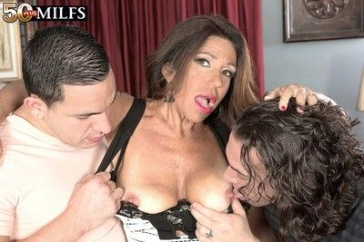 Horny milf layla lamora having two swayed cocks involving drag inflate plus leman