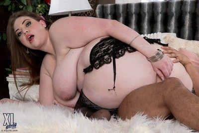 Spectacular chubby lady hobgoblin dour fucked in her huge ass