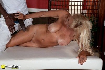 Beamy chest ature brittney do a snow job on massaged coupled with fucked by bbc