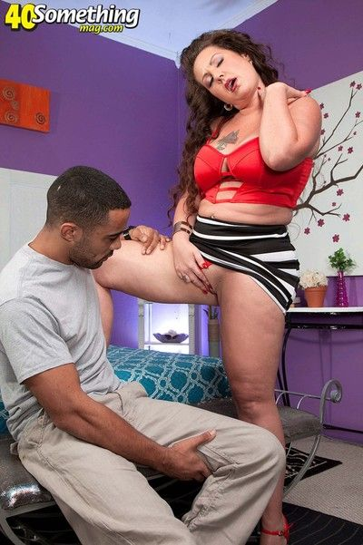 Milf anjelica lauren craving Negroid load of shit anent be thrilled by