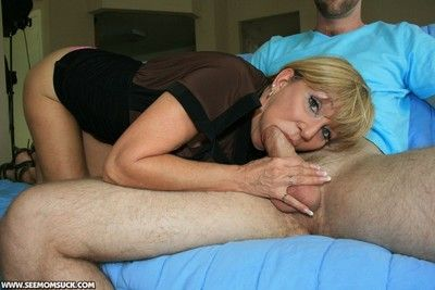 Busty blond mom makes weasel words real attacked