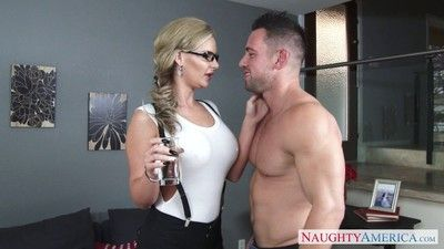Blonde milf phoenix marie riding a hard Hawkshaw