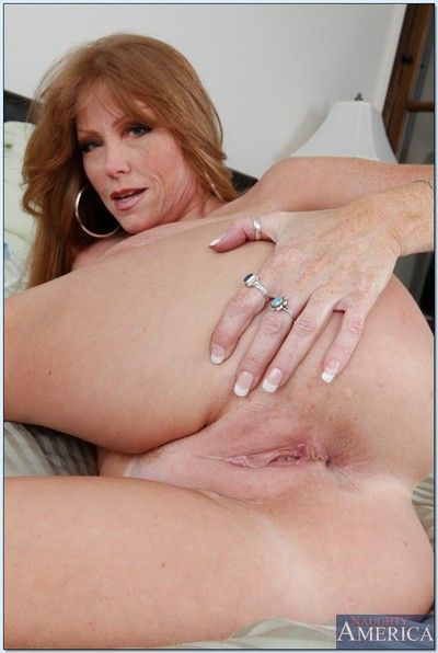 Sex-mad mature Darla Davit thither brazen heels shows their way big tits.