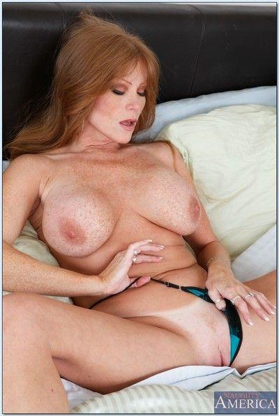 Sex-mad mature Darla Davit thither brazen heels shows their way big tits.