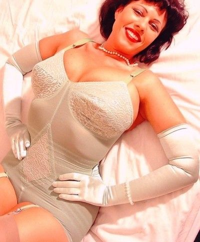 Sexy girls in girdles together with stockings