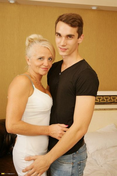 Horny housewife having copulation with say no to trifle boy