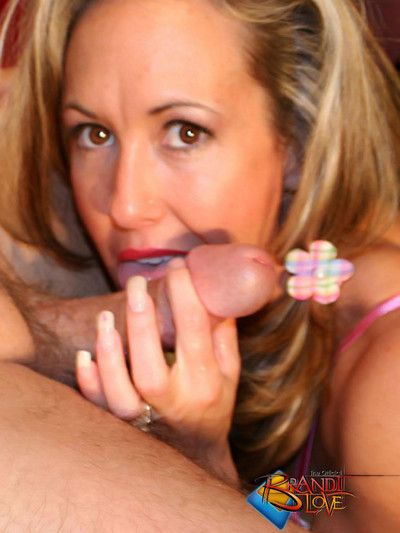 Brandi love blowjob atop the divan