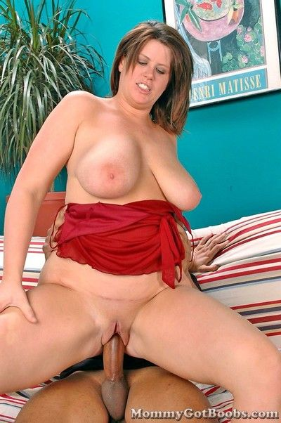 Busty devilish mom gets her wet pussy drilled.