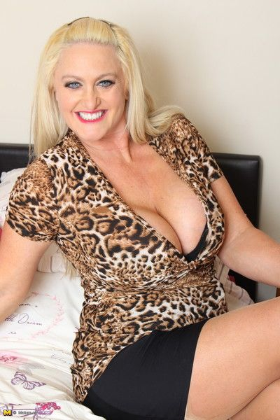 Broad in the beam breasted british milf property soiled and horn-mad
