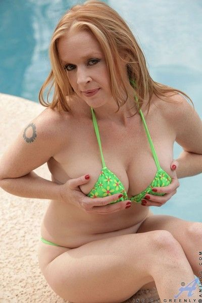 Indica greenly poses in bikini