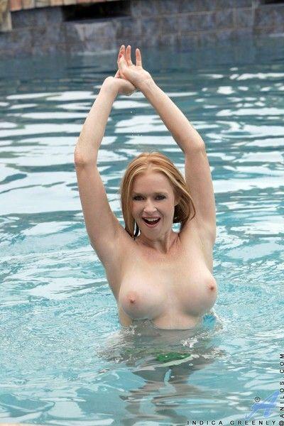 Indica greenly poses in bikini