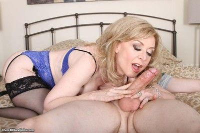 Leader hot milf nina hartley milking faked taproom
